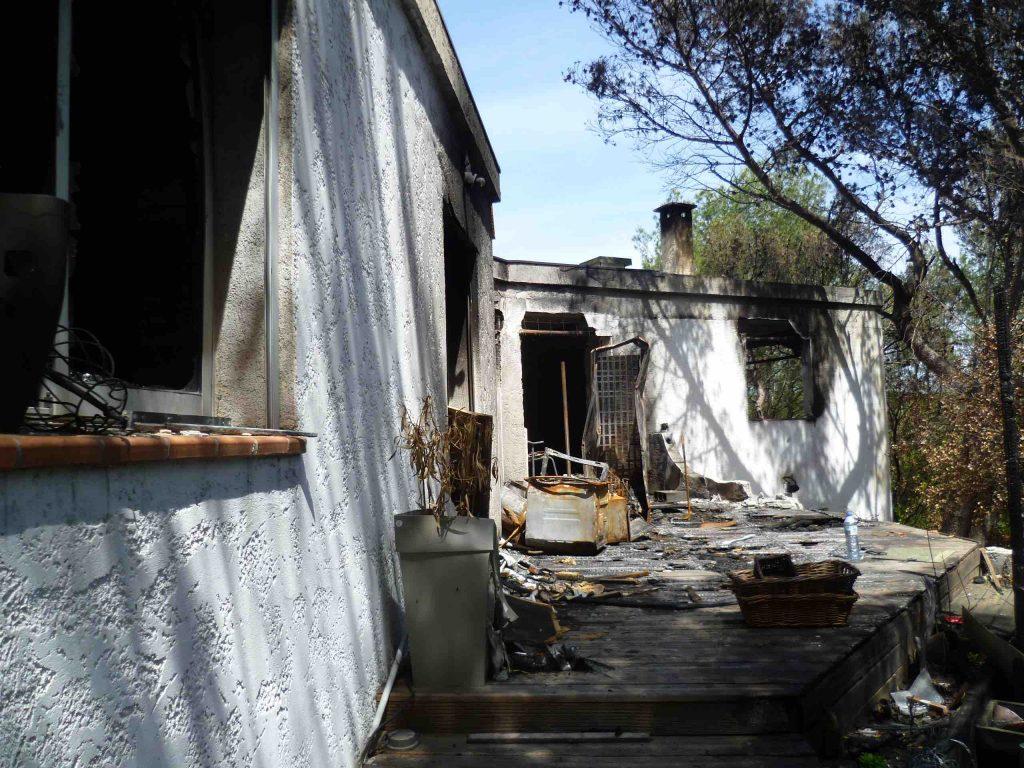 Sinistre incendie Habitation individuelle Nimes